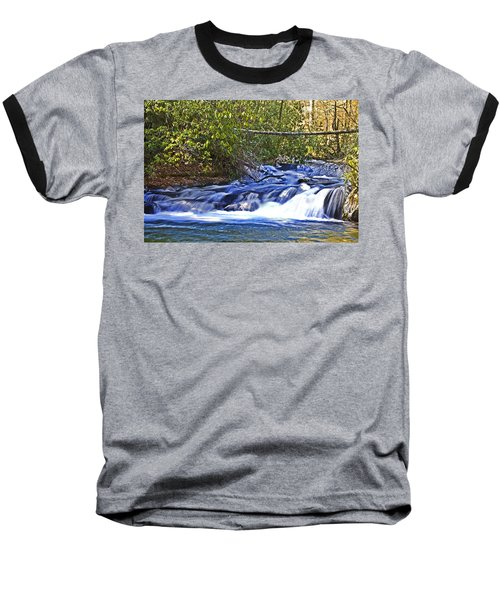 Baseball T-Shirt featuring the photograph Swiftly Flowing River by Susan Leggett