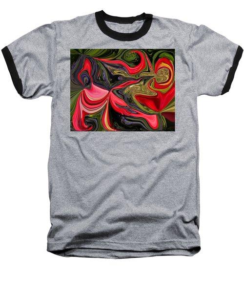 Swirled Garden 1 Baseball T-Shirt by Renate Nadi Wesley