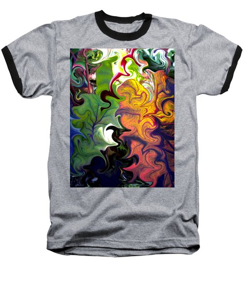Swirled Leaves Baseball T-Shirt