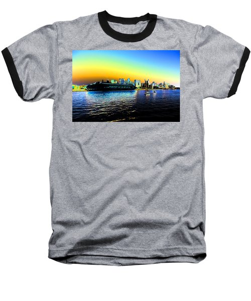 Sydney In Color Baseball T-Shirt by Douglas Barnard
