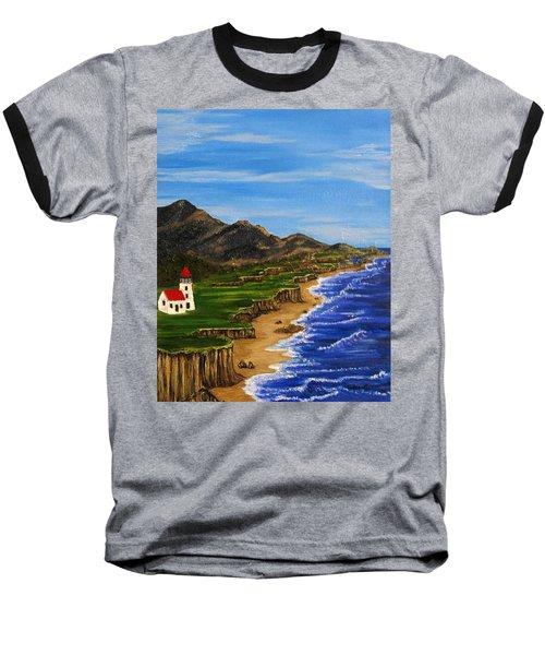 Sylvia's Seascape Baseball T-Shirt
