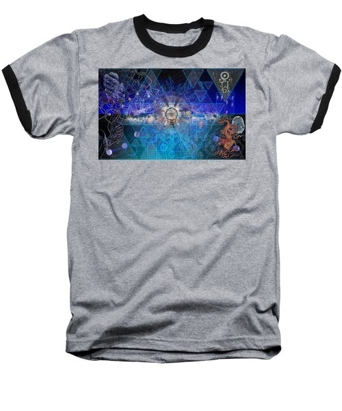 Synesthetic Dreamscape Baseball T-Shirt by Kenneth Armand Johnson