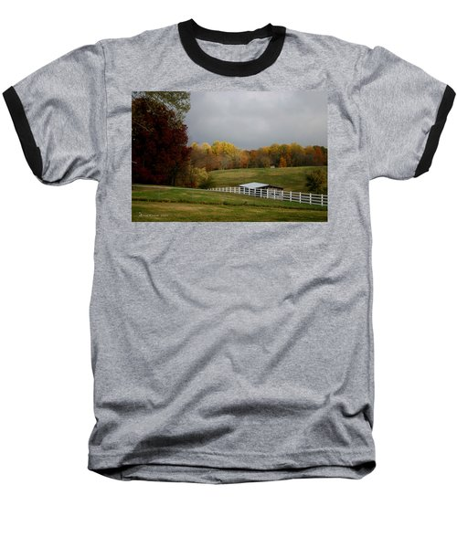 Baseball T-Shirt featuring the photograph Take A Deep Breath by EricaMaxine  Price