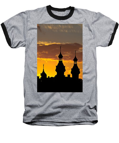 Baseball T-Shirt featuring the photograph Tampa Bay Hotel Minarets At Sundown by Ed Gleichman