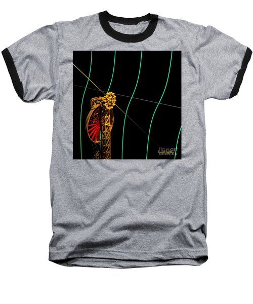 Tangent Graph Math Engine Baseball T-Shirt by Russell Kightley