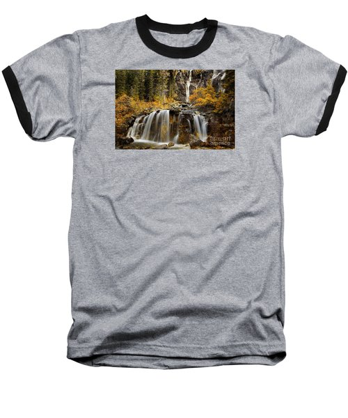 Tangle Falls, Jasper National Park Baseball T-Shirt