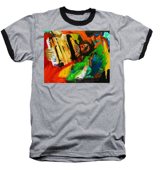 Baseball T-Shirt featuring the painting Tango Through The Memories by Keith Thue
