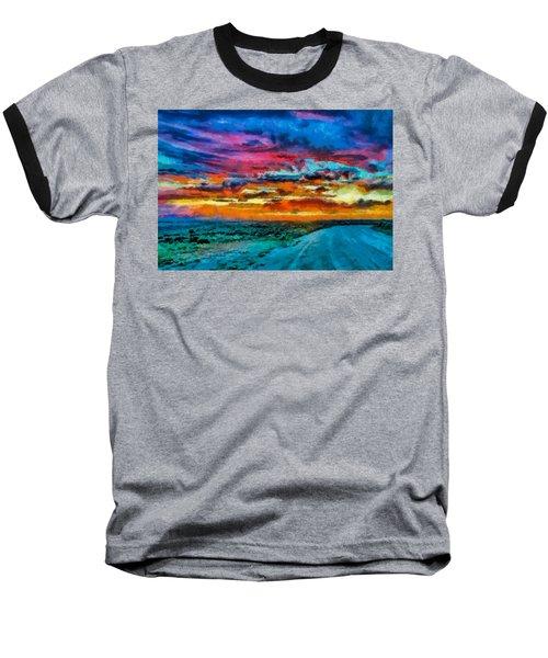 Taos Sunset Iv Wc Baseball T-Shirt