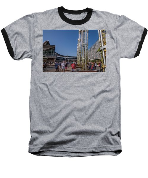 Baseball T-Shirt featuring the photograph Target Plaza by Tom Gort