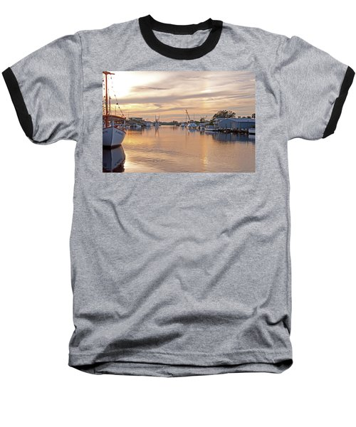 Tarpon Springs Sunset Baseball T-Shirt