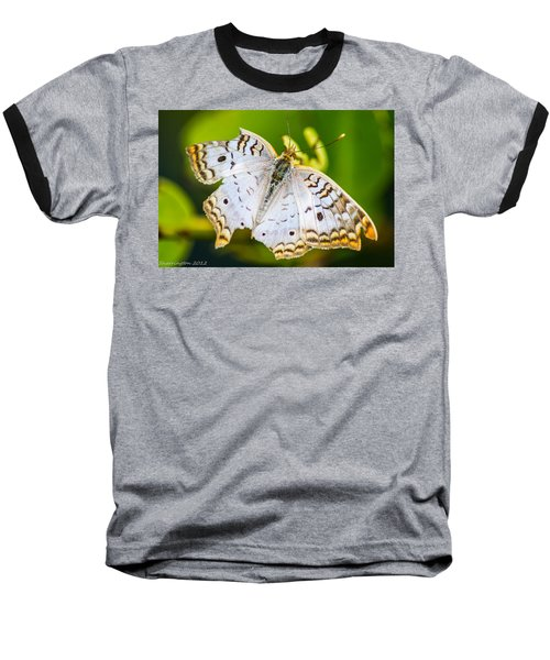 Baseball T-Shirt featuring the photograph Tattered Moth by Shannon Harrington