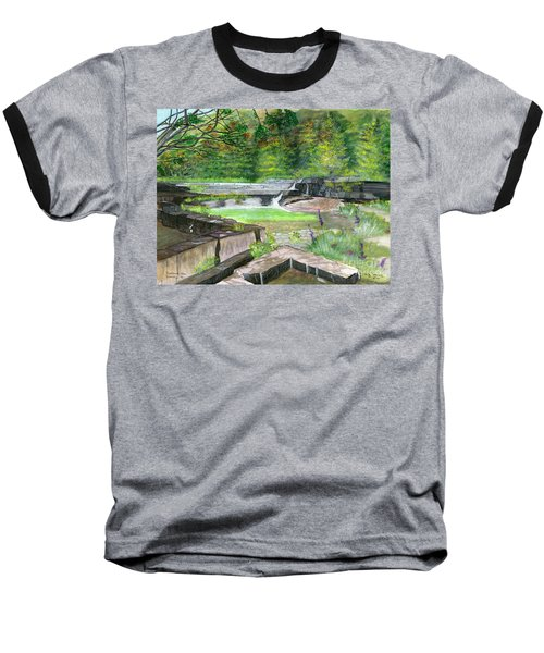 Baseball T-Shirt featuring the painting Taughannock Vista Ithaca New York by Melly Terpening