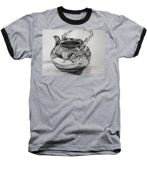 Teapot Reflections Baseball T-Shirt by Jan Bennicoff