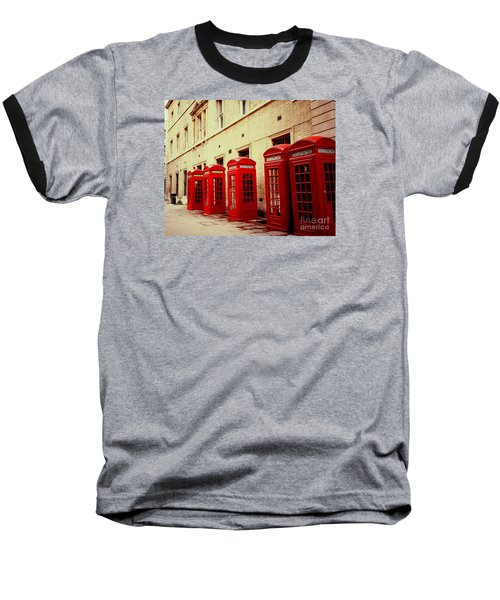 Baseball T-Shirt featuring the photograph Telephone Booths by Ranjini Kandasamy