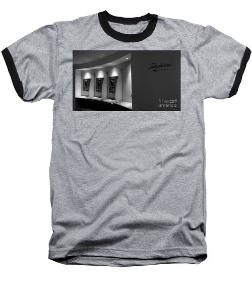 Baseball T-Shirt featuring the photograph Telephones On Wall by Nina Prommer