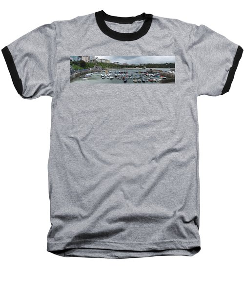 Baseball T-Shirt featuring the photograph Tenby Harbour Panorama by Steve Purnell