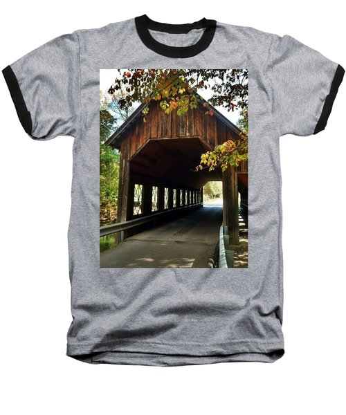 Tennesse Covered Bridge Baseball T-Shirt by Janice Spivey