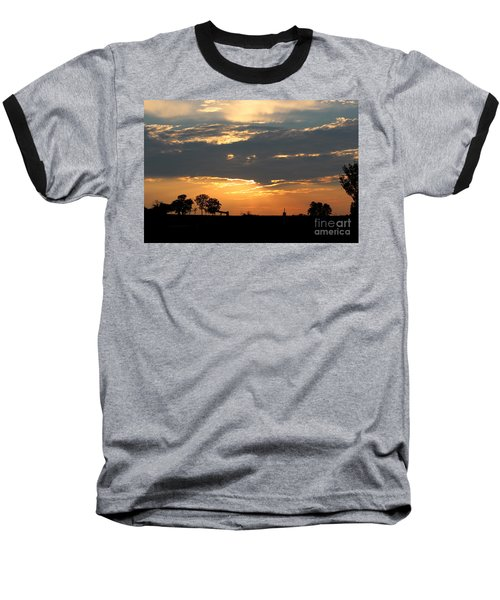 Baseball T-Shirt featuring the photograph Texas Sized Sunset by Kathy  White