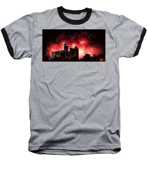 Baseball T-Shirt featuring the photograph The 54th Annual Target Fireworks In Detroit Michigan - Version 2 by Gordon Dean II