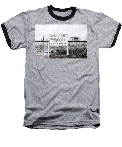 Berlin Wall American Sector Baseball T-Shirt