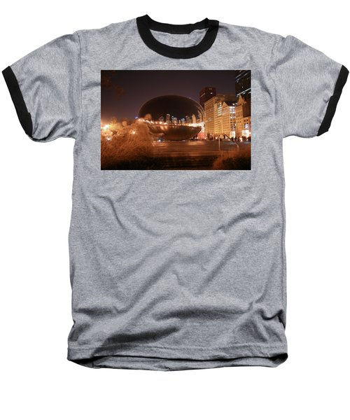 The Bean On A Winter Night Baseball T-Shirt