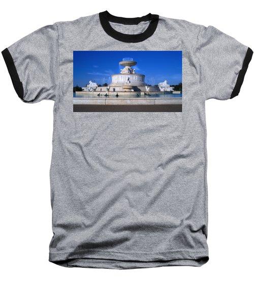 Baseball T-Shirt featuring the photograph The Belle Isle Scott Fountain by Gordon Dean II
