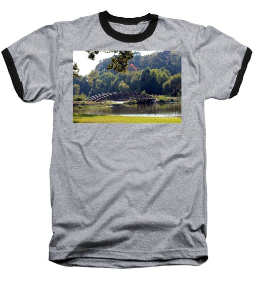 Baseball T-Shirt featuring the photograph The Bridge by Kathy  White