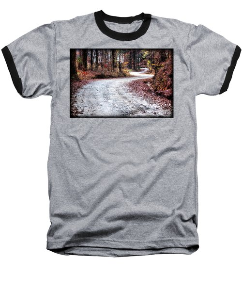 Baseball T-Shirt featuring the photograph The Broken Road by Lynne Jenkins