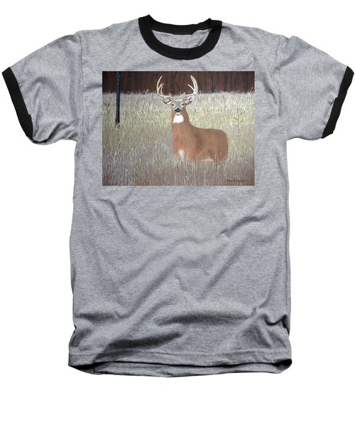 Baseball T-Shirt featuring the painting The Buck Stops Here by Norm Starks