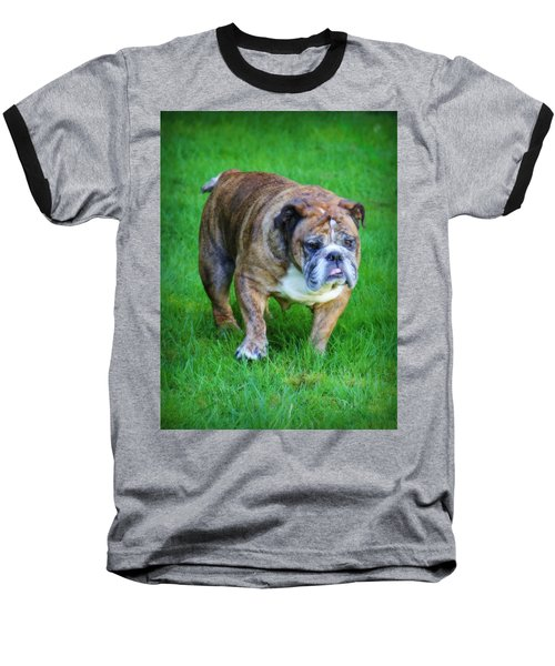 Baseball T-Shirt featuring the photograph The Bulldog Shuffle by Jeanette C Landstrom