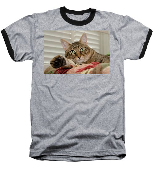The Cat With Green Eyes Baseball T-Shirt
