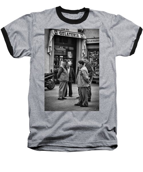 Baseball T-Shirt featuring the photograph The Conference by Hugh Smith