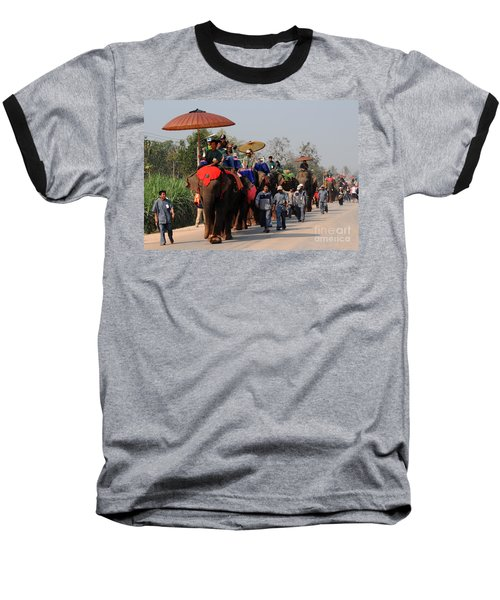 The Elephant Parade Baseball T-Shirt by Vivian Christopher