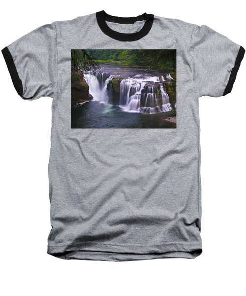 Baseball T-Shirt featuring the photograph The Falls by David Gleeson
