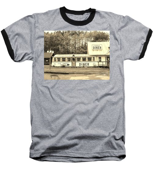 Baseball T-Shirt featuring the photograph The Farmers Diner In Sepia by Sherman Perry