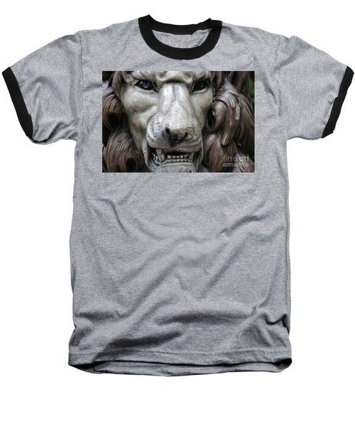 Baseball T-Shirt featuring the photograph The Fierce Lion  by Kathy  White