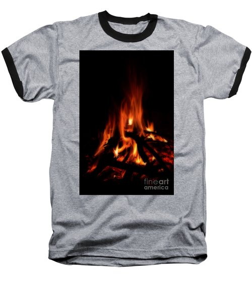The Fire Baseball T-Shirt by Donna Greene