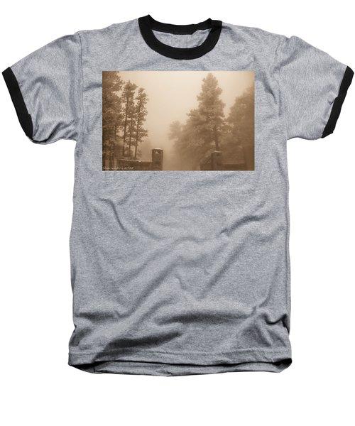 Baseball T-Shirt featuring the photograph The Fog by Shannon Harrington