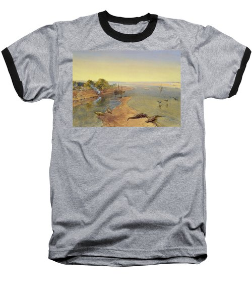 The Ganges Baseball T-Shirt by William Crimea Simpson