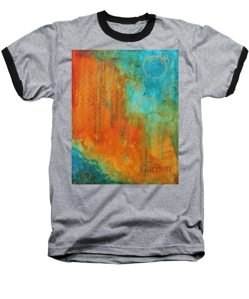 Baseball T-Shirt featuring the painting The Garden by Nicole Nadeau