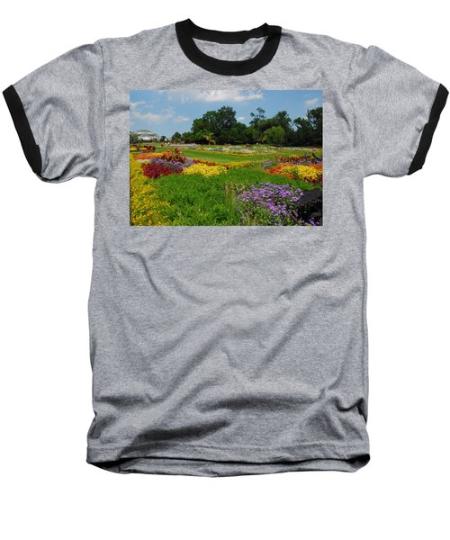 The Gardens Of The Conservatory Baseball T-Shirt by Lynn Bauer