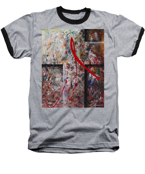 Baseball T-Shirt featuring the painting The Greatest Love by Kume Bryant