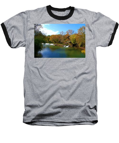 Baseball T-Shirt featuring the photograph The Grist Big River by Peggy Franz