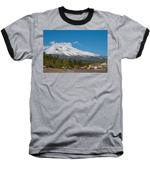The Heart Of Mount Shasta Baseball T-Shirt by Carol Ailles