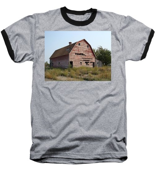 Baseball T-Shirt featuring the photograph The Hole Barn by Bonfire Photography