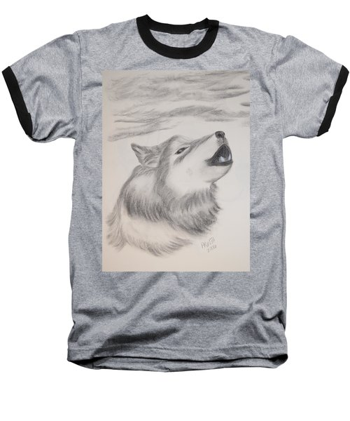 Baseball T-Shirt featuring the drawing The Howler by Maria Urso