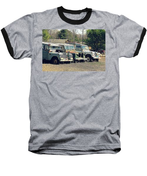 The Land Rover Graveyard Baseball T-Shirt