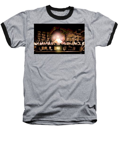 the Last Supper Baseball T-Shirt by George Pedro