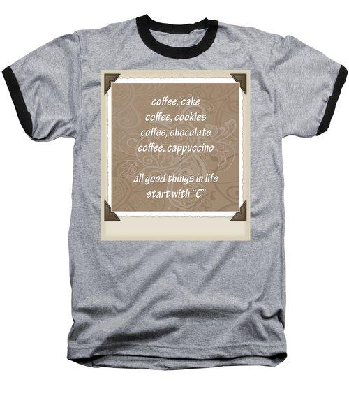 The Letter C Scrapbook Baseball T-Shirt