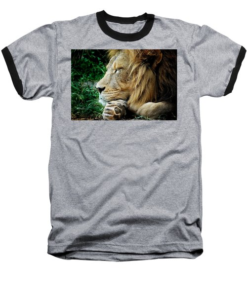 The Lions Sleeps Baseball T-Shirt